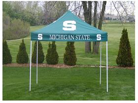 Michigan State Spartans 9u0027x9u0027 Tailgate Tent Canopy - NCAA College Athletics & Michigan State Spartans 9u0027x9u0027 Tailgate Tent Canopy - NCAA College ...