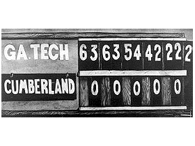 Historical Cupcake Games The Highest Scoring Game In College Football Factoid 640