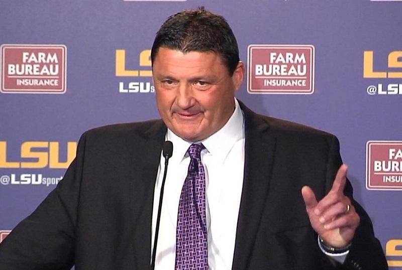 Ed Orgeron Coach LSU