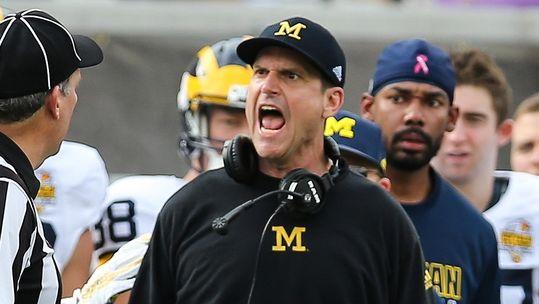 Jim Harbaugh Coach Michigan
