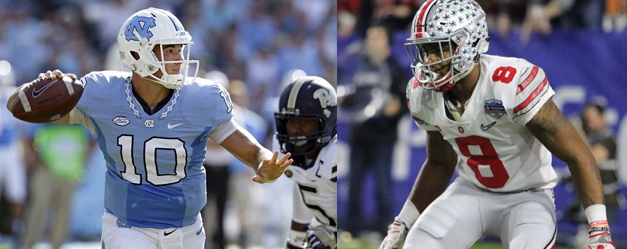 Mitch Trubisky QB North Carolina Gareon Conley CB Ohio State