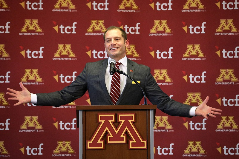 PJ Fleck Minnesota Golden Gophers Coach